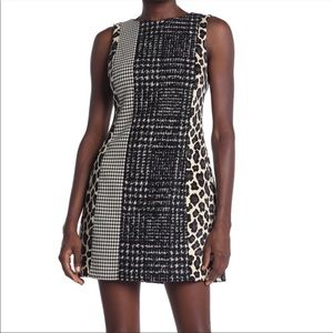 Alice + Olivia Clyde Pattern Mix Wool Blend Dress